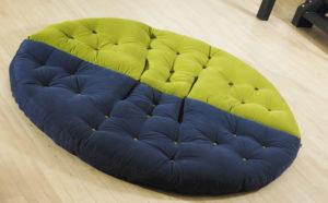 futon półokrągły fotel duch japonii